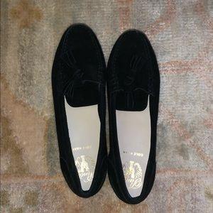 Black Pinch soft tassel suede cole Haan loafers